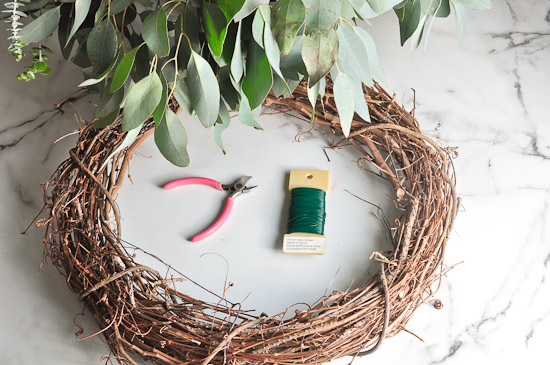 DIY Eucalyptus Wreath Tutorial-18