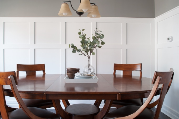 How to define a space with board and batten keys to for Dining room definition
