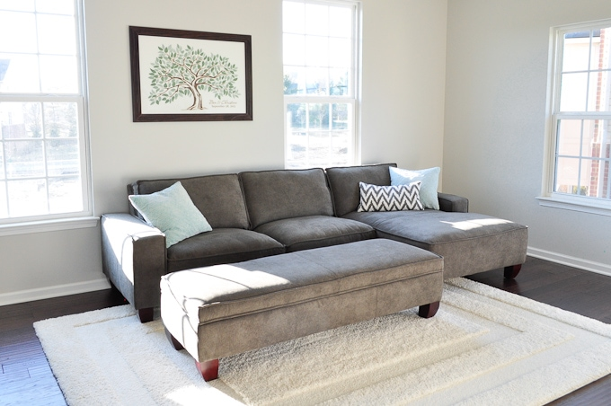 You will never guess where she found this amazing sectional couch! And it was a : costco sleeper sectional - Sectionals, Sofas & Couches