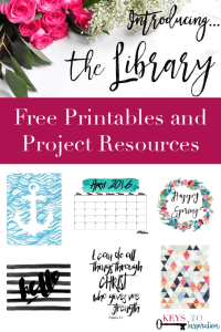 Introducing… the Library! || FREE Printable 2016 Watercolor Calendar