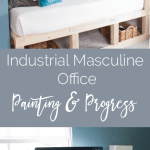 Industrial Masculine Office – Painting & Progress