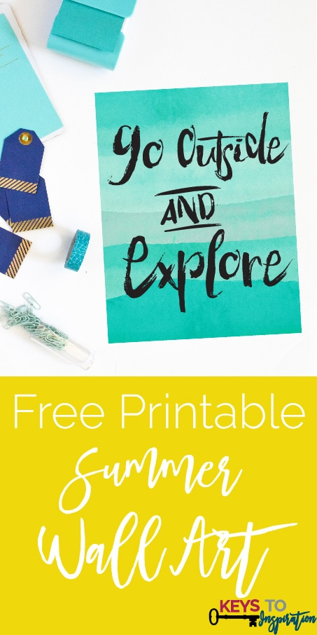 Summer Goals + Summer Wall Art! {Free Printable} » Keys To Inspiration