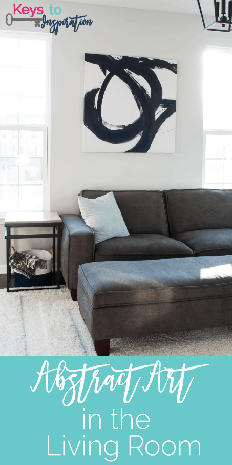 Abstract Art Behind Couch