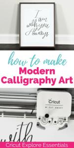 Cricut Explore Essentials: How to Make Modern Calligraphy Art