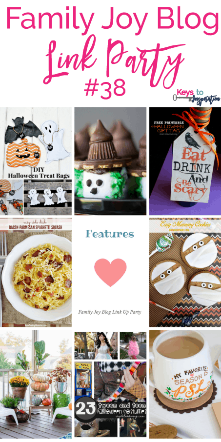 Features from the Family Joy Blog Link Party #38. I love all the cute Halloween ideas.