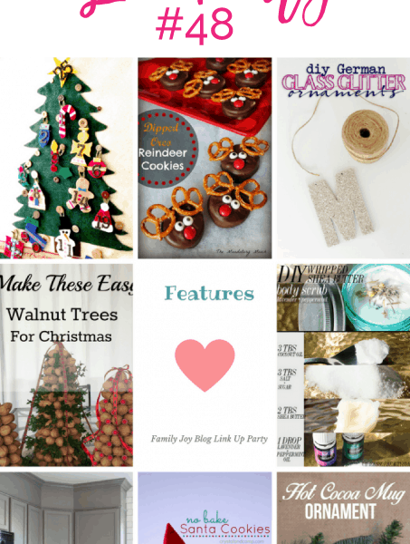 Features from the Family Joy Blog Link Party #48. Great and creative ideas!