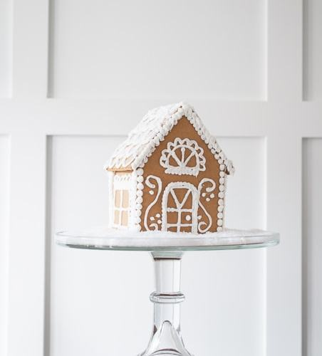 How To Make A Wintry White Gingerbread House » Keys To
