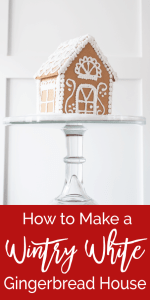 How to Make a Wintry White Gingerbread House
