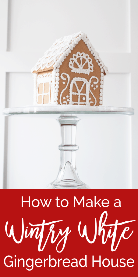 How to make a wintry white gingerbread house keys to for How do you make a gingerbread house