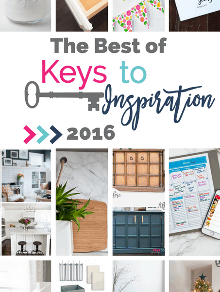 The Best of Keys to Inspiration 2016 - year in review of all the best posts of 2016