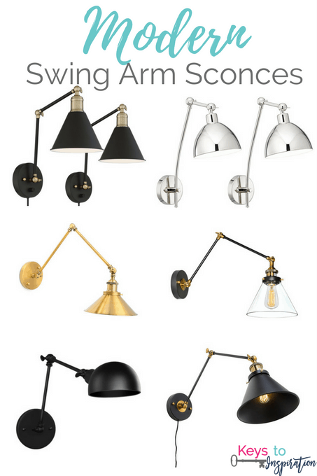 Modern swing arm sconces at a budget price. All of these are from Amazon!