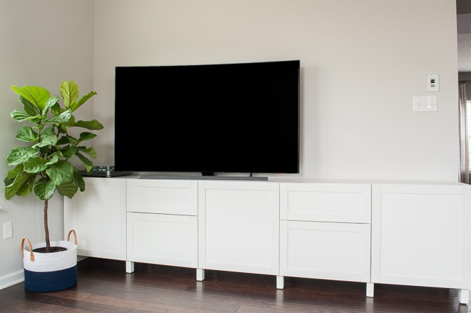 how to design a modern media center using ikea besta cabinets get a built - Media Center With Bookshelves