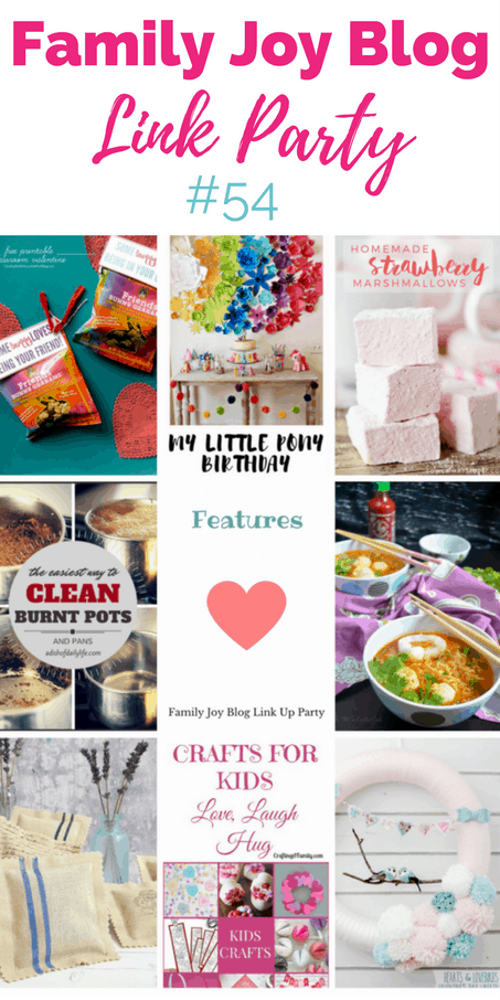 Features from the Family Joy Blog Link Party #54. Great and creative ideas!