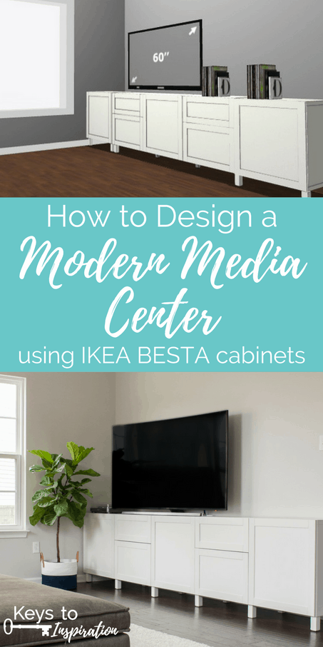 How To Design A Modern Media Center Using IKEA BESTA Cabinets. Get A  Built . Our Living Room ...
