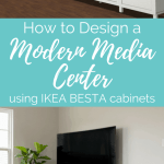 How to Design a Modern Media Center using IKEA BESTA cabinets