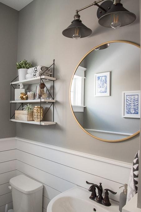Fresh & Modern Powder Room Reveal » Keys To Inspiration