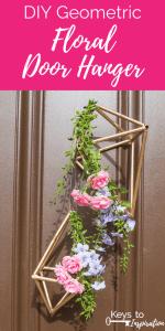 DIY Geometric Floral Door Hanger