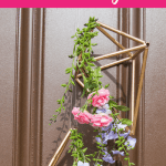 DIY Geometric Floral Door Hanger