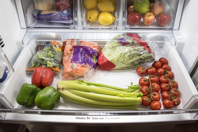 How to organize a french door refrigerator. Make the most out of all the food storage space and create a system that works for your family.