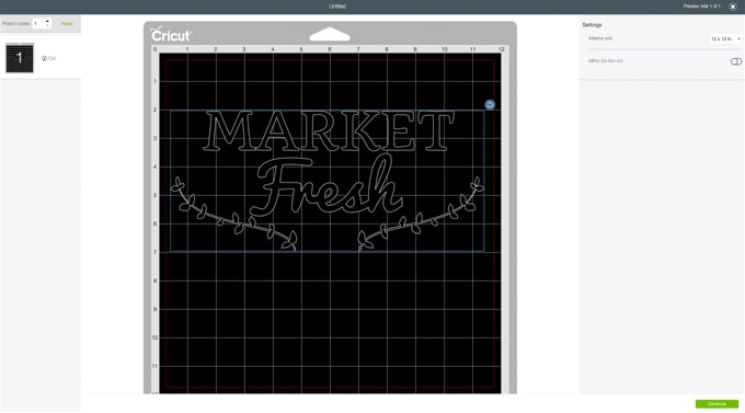 Learn how to DIY this cute farmer's market tote bag using the Cricut Explore. See how to use freezer paper to make a stencil in this full craft tutorial.