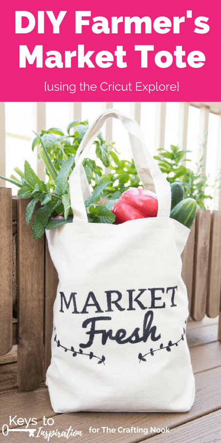 8ef2fd6ad Learn how to DIY this cute farmer's market tote bag using the Cricut  Explore. See
