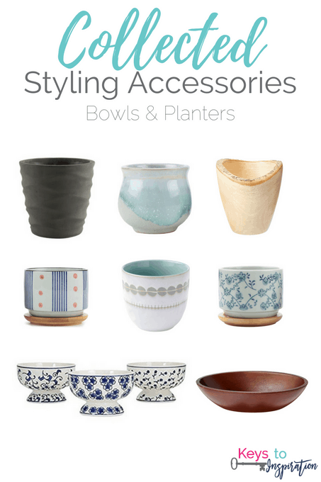 Get the Modern Classic look for less! Collected Styling Accessories - Bowls and Planters for your home. All of these are from Amazon!