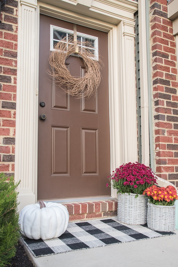 Fresh Modern Powder Room Reveal Keys To Inspiration: A Simple And Modern Fall Front Porch » Keys To Inspiration