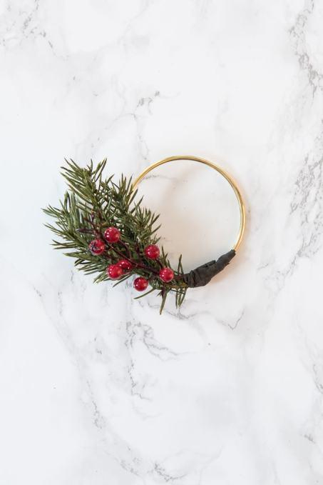 diy modern christmas wreath ornament create this mini version of a modern gold wreath with - Diy Modern Christmas Decorations
