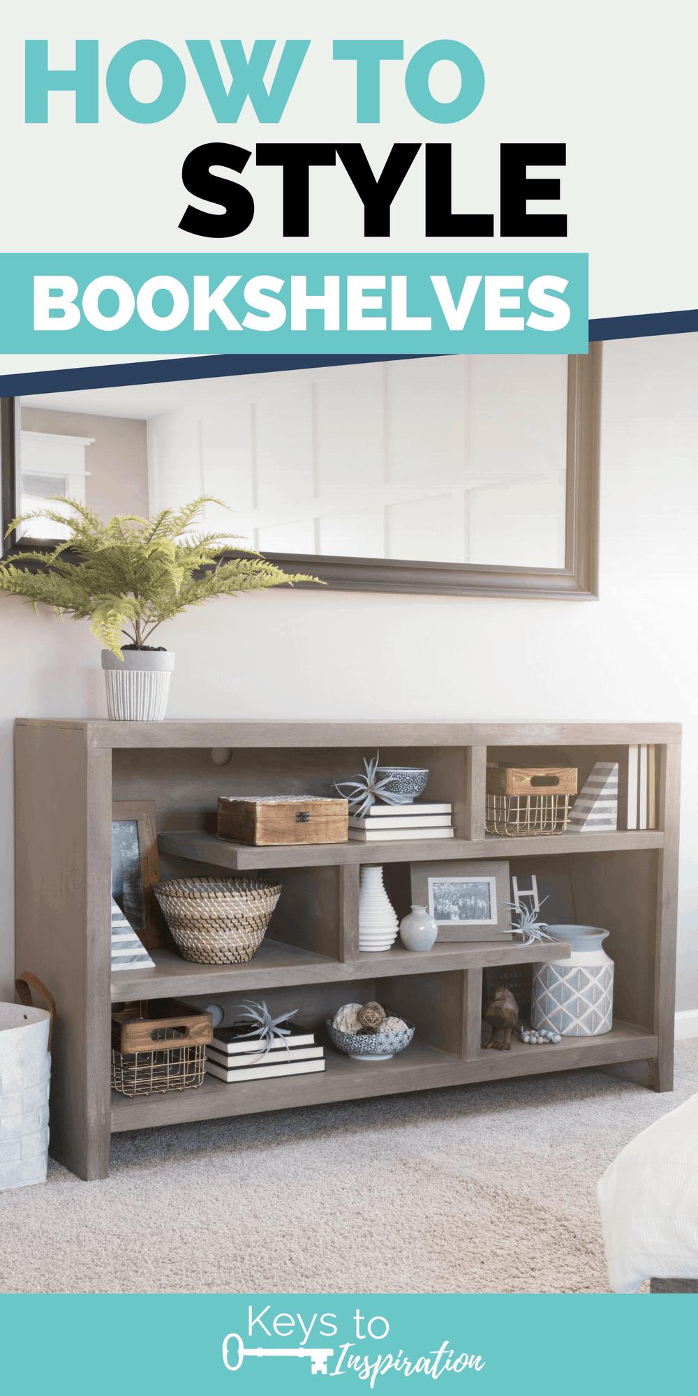 How to Style Bookshelves Keys