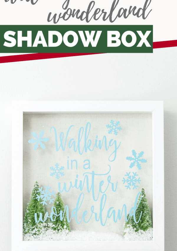 Simple Walking in a Winter Wonderland Shadow Box