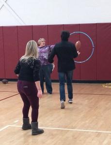 Special Olympics training.