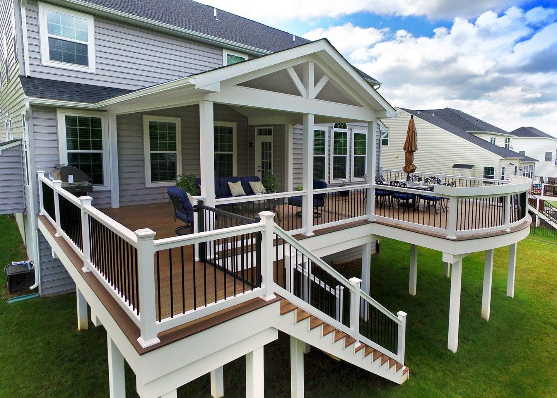 Wood Decks vs. Composite Decks | Keystone Custom Decks on Deck Over Patio Ideas id=81570