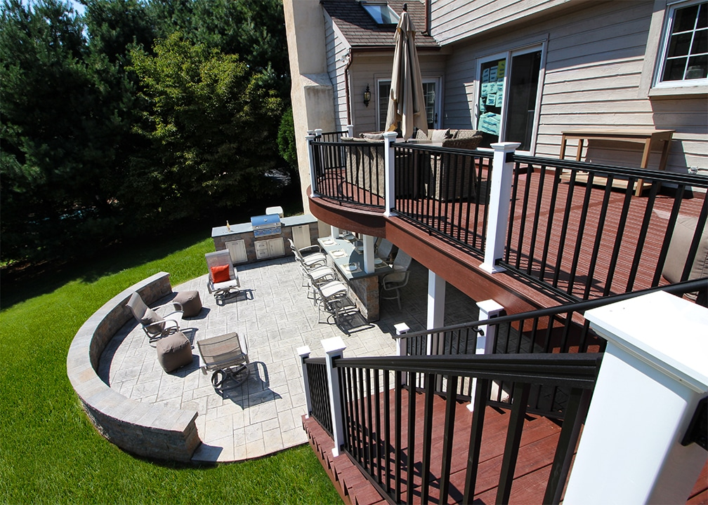 Custom Deck/Patio West Chester PA | 1206 Sq Ft | Keystone ... on Patio With Deck Ideas id=61178