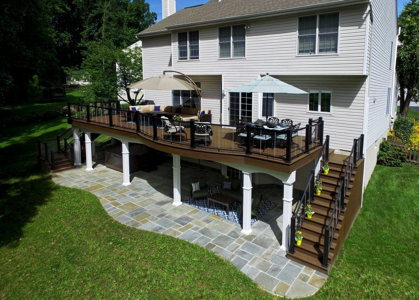 Elevated Deck Designs | Safety Features for Above Ground Decks on Back Deck Ideas For Ranch Style Homes  id=25752