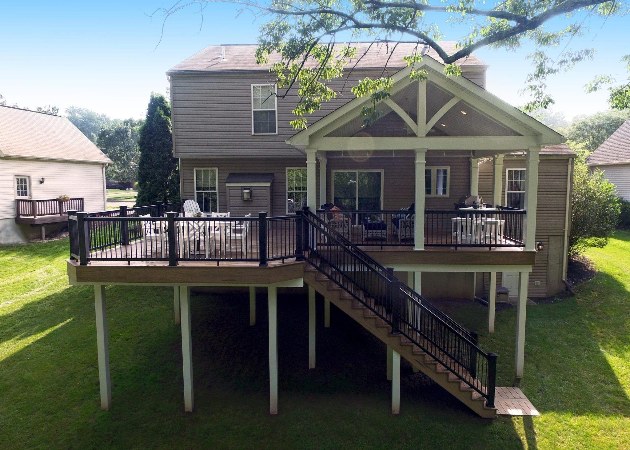 Elevated Deck Designs | Safety Features for Above Ground Decks on Deck Over Patio Ideas id=61644