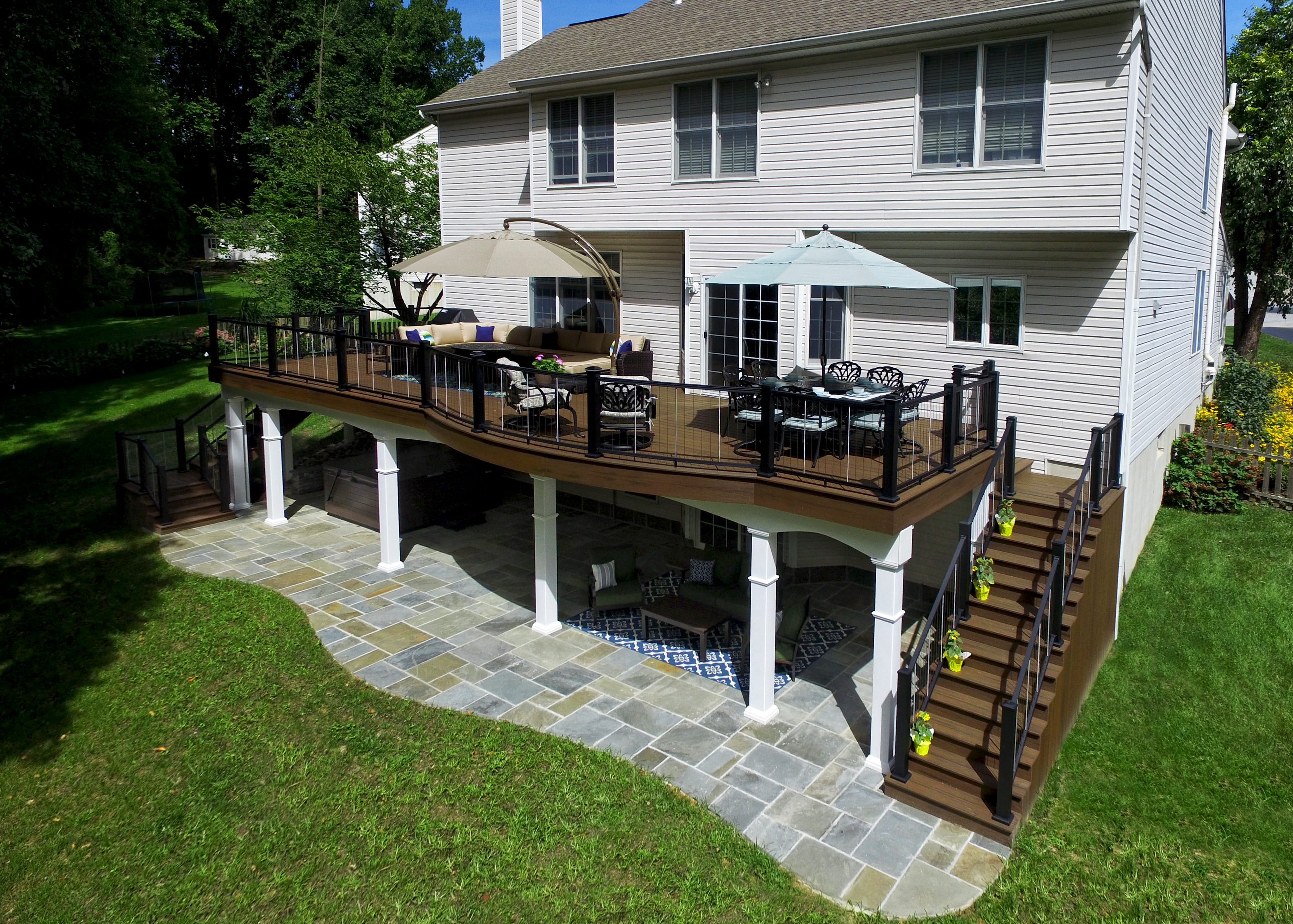 Deck vs. Patio: Which is Right for You?   Keystone Custom ... on Under Deck Patio Ideas id=51350