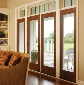 hinged and french patio doors