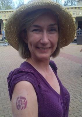 Deborah's lion tattoo