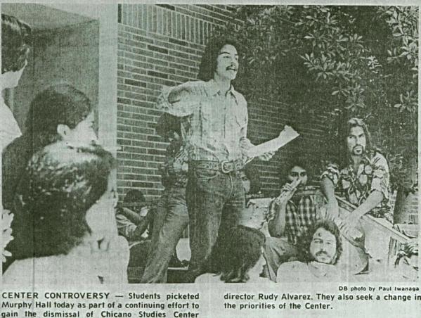 MECHA leader Antonio Villaraigosa, circa 1974 (center)