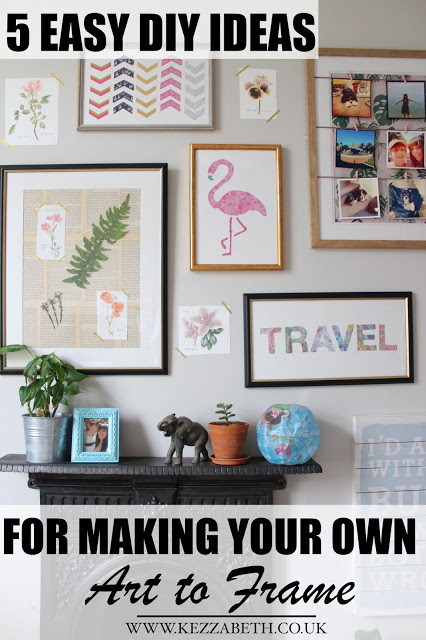 5 Easy DIY Ideas for Making 您r Own Art to Frame