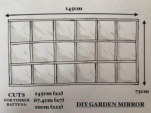 How To Make A Diy Garden Mirror Kezzabeth Diy Renovation Blog