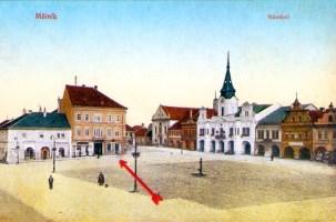 Mělník - okresní dům čp. 26 - pošta v letech 1893-1937