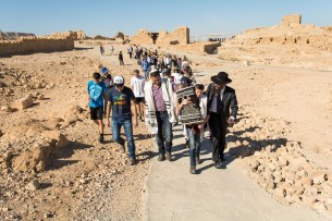 Bar Mitzva on Masada and Kfar Hanokdim