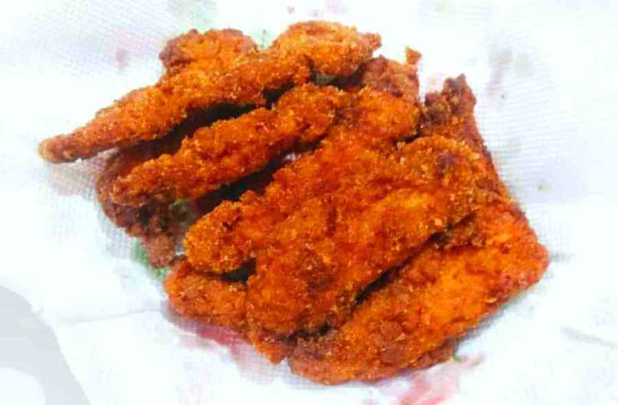 Healthy fried chicken strips without buttermilk