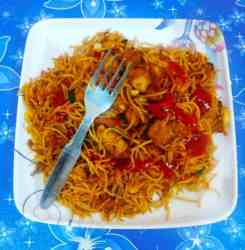 Chinese style chicken chow mein recipe