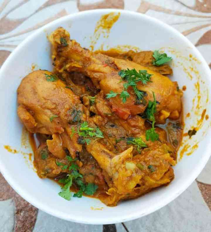 Bengali style chicken curry