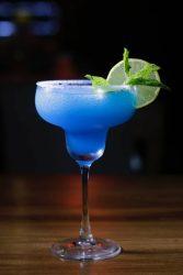Blue margarita cocktail drink