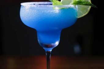 Blue margarita cocktail drink