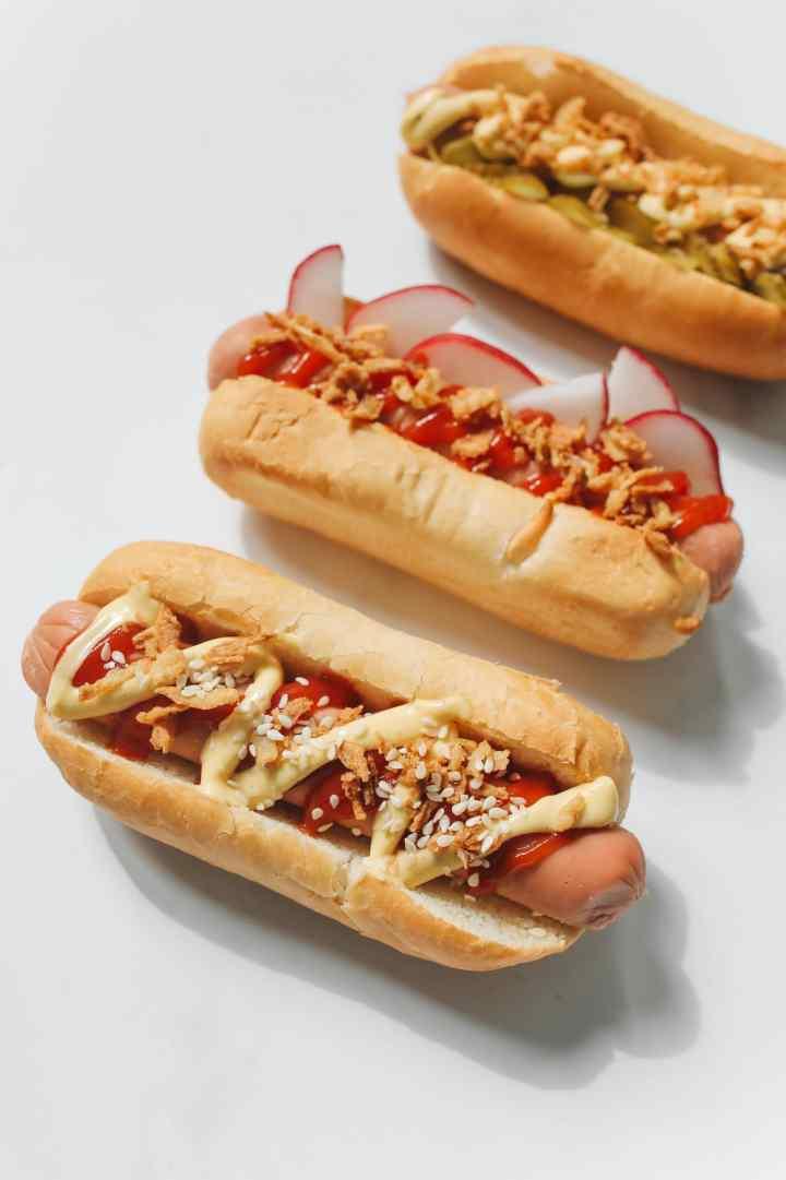 Homemade hot dog