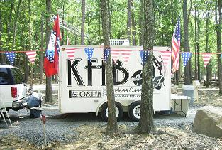KFFB 106.1 FM on location at the new Fairfield Bay RV Park